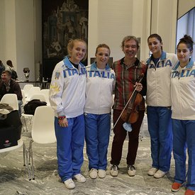 The Italian's national female fencing team
